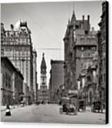 Broad Street Philadelphia 1905 Canvas Print by Bill Cannon