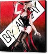 Broadway Style Canvas Print by Scarlett Royal