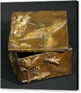 Bronze Hummingbird Box Canvas Print by Dawn Senior-Trask