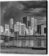 Brooding Above The Burgh Canvas Print