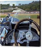 Brooklands From The Hot Seat  Canvas Print by Richard Wheatland