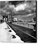 Brooklyn Bridge Canvas Print by Luca Baldassari