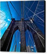 Brooklyn Bridge Vertical Canvas Print by Thomas Splietker