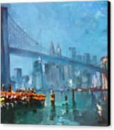 Brooklyn Bridge Canvas Print by Ylli Haruni