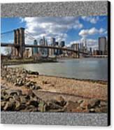 Brooklyn Bridge...triptych Canvas Print