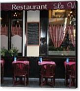 Brussels - Restaurant La Villette Canvas Print by Carol Groenen