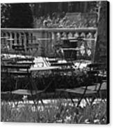 Bryant Park In Black And White Canvas Print