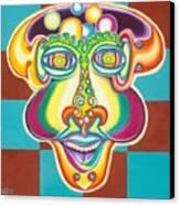 Bubbles Head Canvas Print