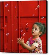 Bubbling Girl Canvas Print