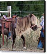 Buckaroo Cowgirl Canvas Print by Cindy Singleton