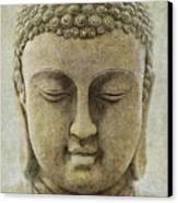 Buddha Head Canvas Print by M Montoya Alicea