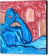 Buddha On The Phone Four Of Four Canvas Print