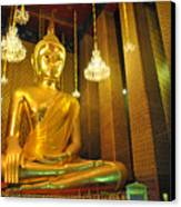 Buddha Statue Canvas Print by Somchai Suppalertporn