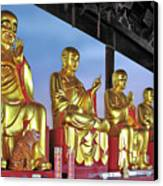 Buddhas Delight - Representations Of Buddhism Canvas Print by Christine Till