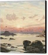 Bude Sands At Sunset Canvas Print by John Brett