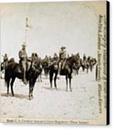 Buffalo Soldiers Of The Ninth U.s Canvas Print by Everett
