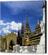 Built Structures Inside Shwezigon Pagoda Canvas Print by Sami Sarkis