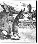 Bull Moose Campaign, 1912 Canvas Print by Granger