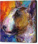 Bull Terrier Dog Painting Canvas Print by Svetlana Novikova