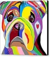 Bulldog Canvas Print by Eloise Schneider