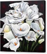 Bunch Of Lilies Canvas Print by Ilse Kleyn