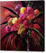 Bunch Of Red Flowers Canvas Print by Pol Ledent