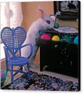 Bunny In Small Room Canvas Print