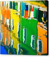 Burano Reflections Canvas Print