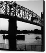 Burlington Bristol Bridge  Canvas Print by D R TeesT