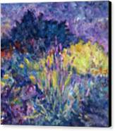Burst Of Color-last Night In Monets Gardens Canvas Print