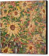 Burst Of Sunflowers. Canvas Print