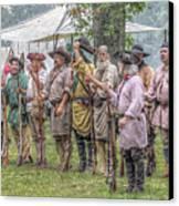 Bushy Run Milita Camp Roll Call Canvas Print by Randy Steele