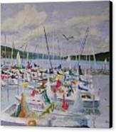 Busy Harbor Canvas Print