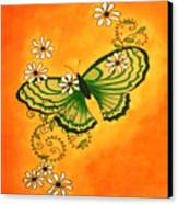 Butterfly Doodle Canvas Print