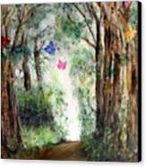 Butterfly Forest Canvas Print