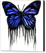 Butterfly Tears Canvas Print by Mike Grubb