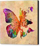 Butterfly World Map  Canvas Print by Mark Ashkenazi