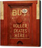 Buy Skates Here Canvas Print by Brenda Conrad