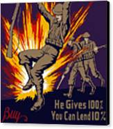 Buy War Stamps And Bonds Canvas Print by War Is Hell Store