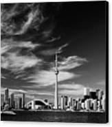 Bw Skyline Of Toronto Canvas Print
