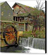 By The Old Mill Stream Canvas Print by Larry Bishop