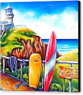 Byron Bay Lighthouse Canvas Print by Deb Broughton