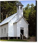 Cades Cove Baptist Church Canvas Print