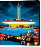 Cadillac Diner Canvas Print by MGL Studio - Chris Hiett