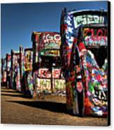 Cadillac Ranch Canvas Print by Lana Trussell