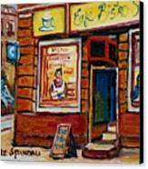 Cafe Bistro St. Viateur Canvas Print