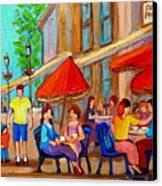 Cafe Casa Grecque Prince Arthur Canvas Print