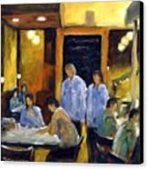 Cafe Des Artistes Canvas Print