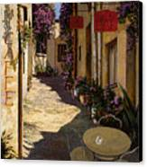 Cafe Piccolo Canvas Print by Guido Borelli