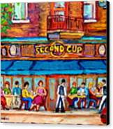 Cafe Second Cup Terrace Canvas Print